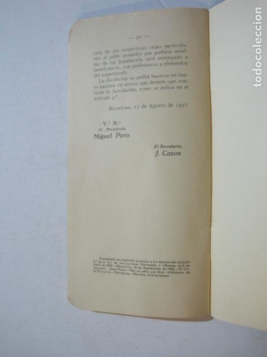 Coleccionismo Papel Varios: BARCELONA-ASOCIACION EMPRESARIOS ESPECTACULOS PUBLICOS DE CATALUÑA-ESTATUTOS 1932-VER FOTOS-(K-805) - Foto 14 - 221953112