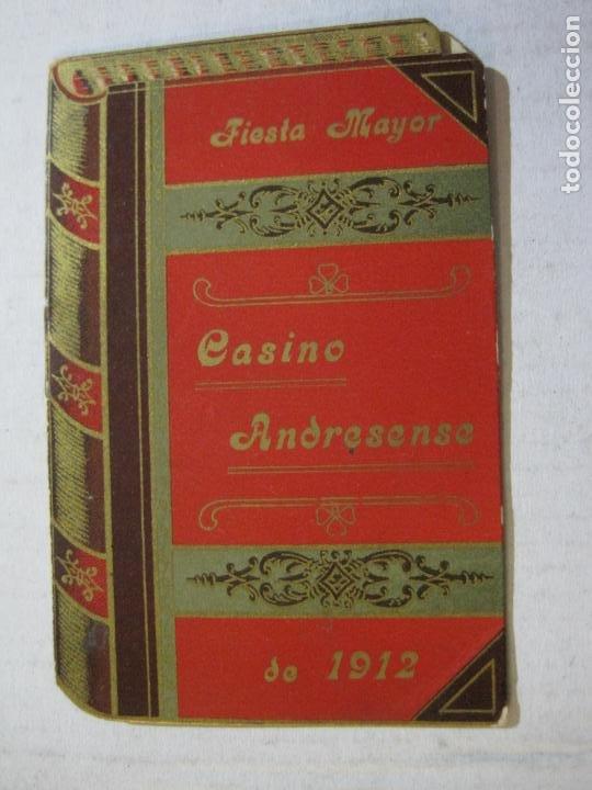 Coleccionismo Papel Varios: SAN ANDRES DEL PALOMAR-CASINO ANDRESENSE-FIESTA MAYOR 1912-PROGRAMA TROQUELADO-VER FOTOS-(74.953) - Foto 2 - 221957360
