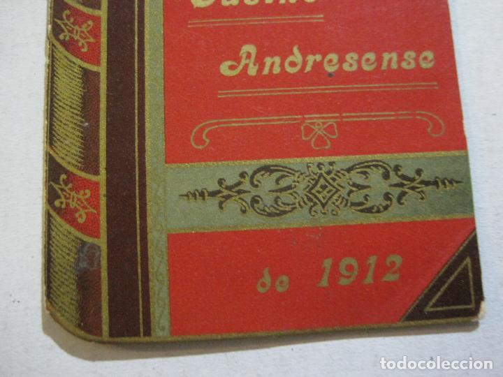 Coleccionismo Papel Varios: SAN ANDRES DEL PALOMAR-CASINO ANDRESENSE-FIESTA MAYOR 1912-PROGRAMA TROQUELADO-VER FOTOS-(74.953) - Foto 5 - 221957360