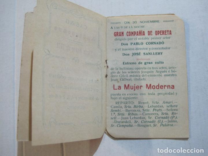 Coleccionismo Papel Varios: SAN ANDRES DEL PALOMAR-CASINO ANDRESENSE-FIESTA MAYOR 1912-PROGRAMA TROQUELADO-VER FOTOS-(74.953) - Foto 8 - 221957360