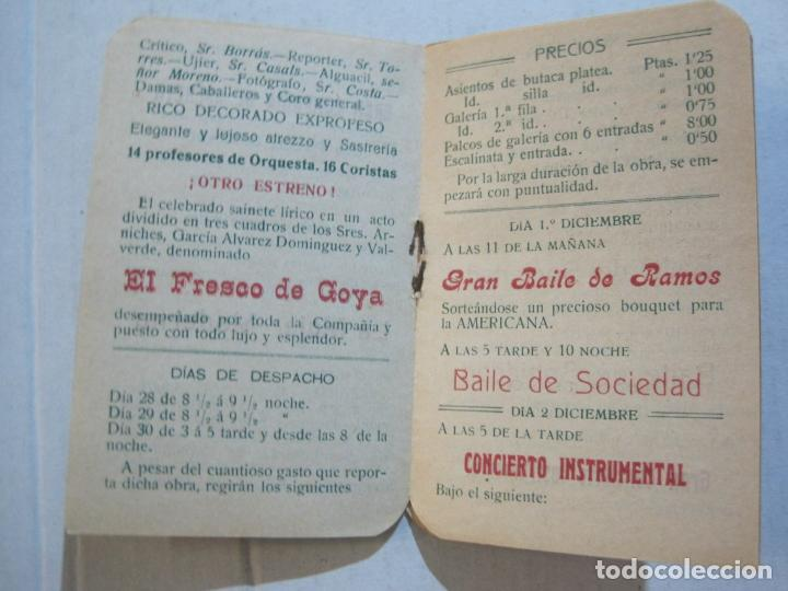 Coleccionismo Papel Varios: SAN ANDRES DEL PALOMAR-CASINO ANDRESENSE-FIESTA MAYOR 1912-PROGRAMA TROQUELADO-VER FOTOS-(74.953) - Foto 9 - 221957360