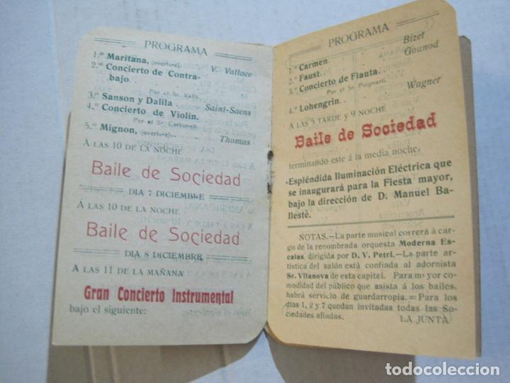 Coleccionismo Papel Varios: SAN ANDRES DEL PALOMAR-CASINO ANDRESENSE-FIESTA MAYOR 1912-PROGRAMA TROQUELADO-VER FOTOS-(74.953) - Foto 10 - 221957360