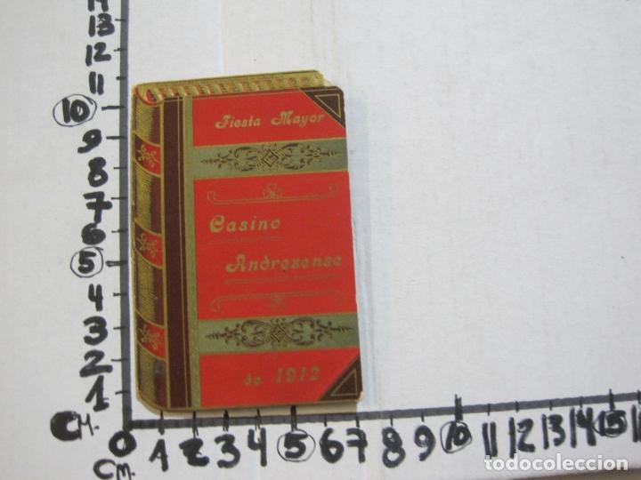 Coleccionismo Papel Varios: SAN ANDRES DEL PALOMAR-CASINO ANDRESENSE-FIESTA MAYOR 1912-PROGRAMA TROQUELADO-VER FOTOS-(74.953) - Foto 14 - 221957360