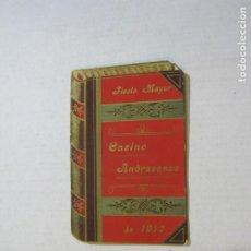 Coleccionismo Papel Varios: SAN ANDRES DEL PALOMAR-CASINO ANDRESENSE-FIESTA MAYOR 1912-PROGRAMA TROQUELADO-VER FOTOS-(74.953). Lote 221957360
