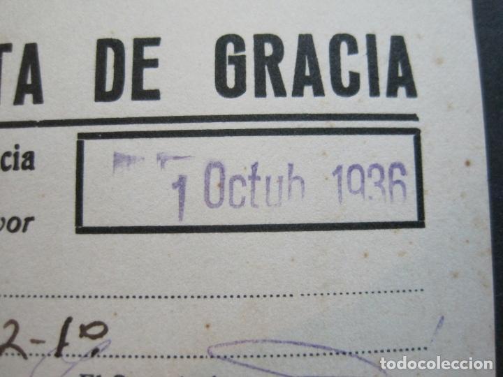Coleccionismo Papel Varios: GUERRA CIVIL-BARCELONA-CLUB EXCURSIONISTA DE GRACIA-JUSTIFACTIU SOCI-OCTUBRE 1936-VER FOTOS-(74.960) - Foto 3 - 221959622
