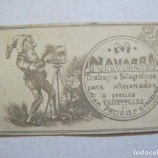 Coleccionismo Papel Varios: BARCELONA-M. NAVARRO-TRABAJOS FOTOGRAFICOS-PUBLICIDAD-VER FOTOS-(74.971). Lote 221960061