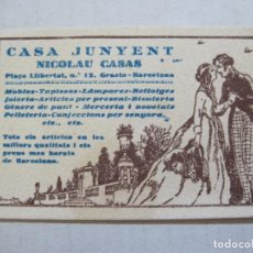 Coleccionismo Papel Varios: BARCELONA-GRACIA-CASA JUNYENT-NICOLAU CASAS-PUBLICIDAD MUEBLES,JOYERIA...ETC-VER FOTOS-(74.979). Lote 221961786