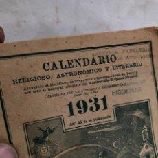 Coleccionismo Papel Varios: CALENDARIO RELIGIOSO DE 1931!. Lote 221973828