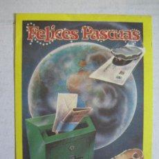 Coleccionismo Papel Varios: EL CARTERO-FELICITACION ANTIGUA DE NAVIDAD-VER FOTOS-(75.043). Lote 222066191