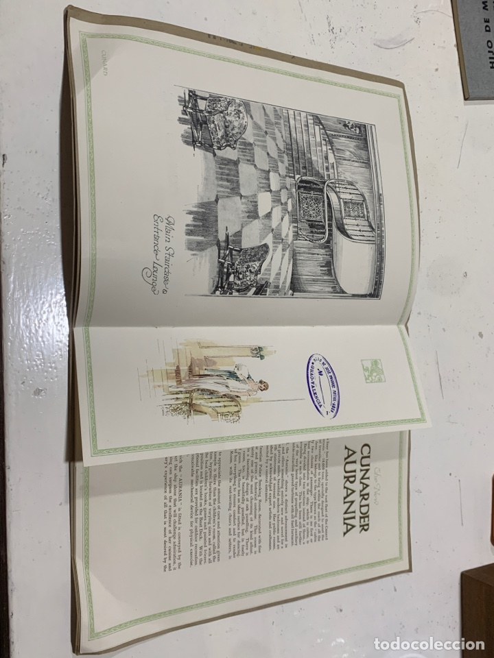 Coleccionismo Papel Varios: Cunarder Aurania del 1924 - Foto 2 - 222119386