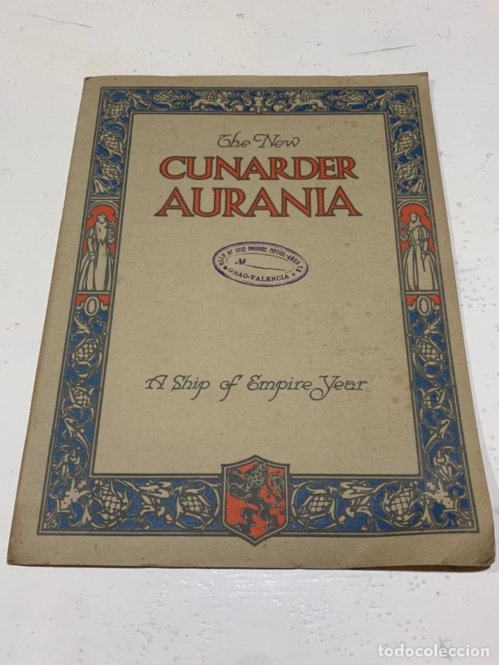 CUNARDER AURANIA DEL 1924 (Coleccionismo en Papel - Varios)