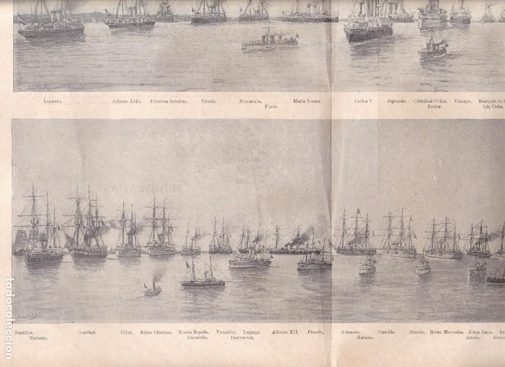 Coleccionismo Papel Varios: MARINA DE GUERRA ESPAÑOLA - LA REVISTA MODERNA 1897 - Foto 2 - 222124053