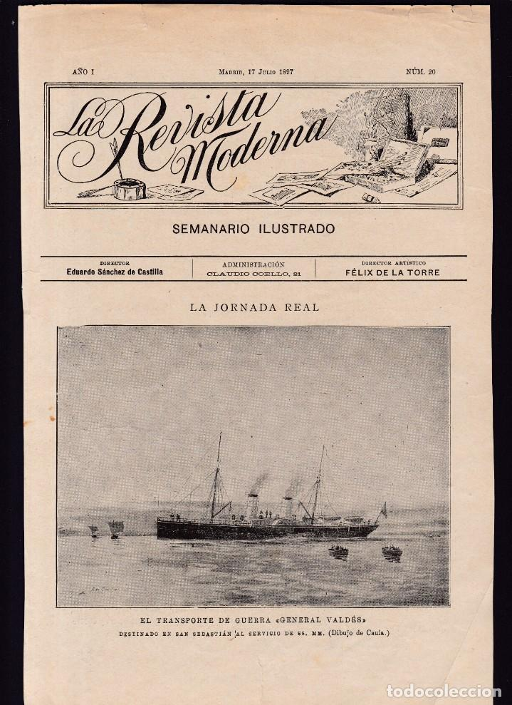 MARINA DE GUERRA ESPAÑOLA - LA REVISTA MODERNA 1897 (Coleccionismo en Papel - Varios)