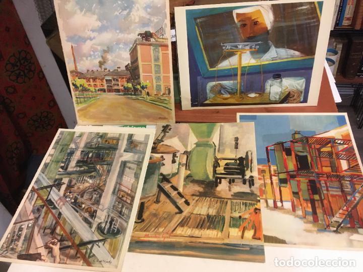 Coleccionismo Papel Varios: Barcelona, laminas de cuadros compañia española de penicilina, belle epoque,laboratorios Miguel. - Foto 2 - 222118298