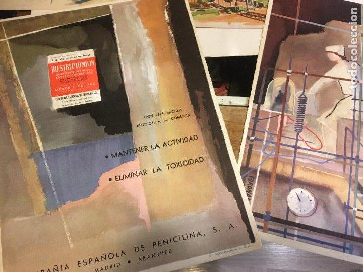 Coleccionismo Papel Varios: Barcelona, laminas de cuadros compañia española de penicilina, belle epoque,laboratorios Miguel. - Foto 4 - 222118298