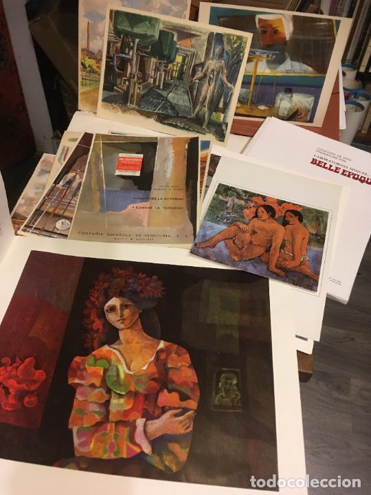 Coleccionismo Papel Varios: Barcelona, laminas de cuadros compañia española de penicilina, belle epoque,laboratorios Miguel. - Foto 7 - 222118298