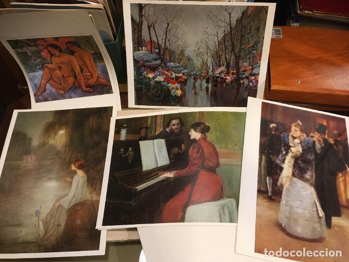 Coleccionismo Papel Varios: Barcelona, laminas de cuadros compañia española de penicilina, belle epoque,laboratorios Miguel. - Foto 8 - 222118298