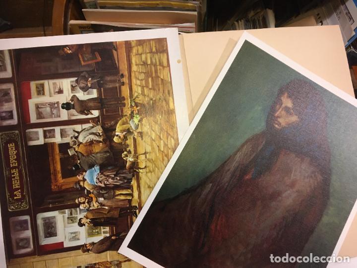 Coleccionismo Papel Varios: Barcelona, laminas de cuadros compañia española de penicilina, belle epoque,laboratorios Miguel. - Foto 11 - 222118298