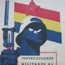 Coleccionismo Papel Varios: GUERRA CIVIL-INSTRUCCIONES MILITARES AL CABO Y SARGENTO DEL EJERCITO POPULAR-RENAU-VER FOTOS-(K-863). Lote 222837765