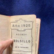 Altri oggetti di carta: AGENDA DE BOLSILLO 1925BAILLY BAILLIERE MADRID INFANTE DE MARINA 14,5X10CMS. Lote 222919487