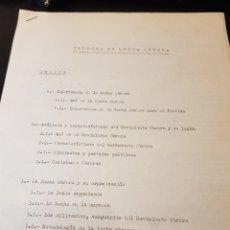 Outros artigos de papel: CONGRESO CARLISTA DOCUMENTACIÓN FRENTES DE LUCHA OBRERA. Lote 223336060