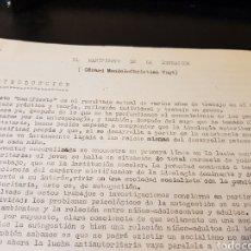 Outros artigos de papel: DOCUMENTACIÓN CARLISTA EL MANIFIESTO DE LA EDUCACIÓN. Lote 223336573