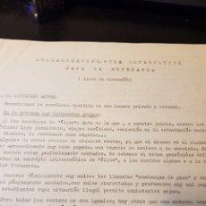 Outros artigos de papel: DOCUMENTACIÓN CARLISTA SOCIALIZACIÓN ALTERNATIVA PARA LA ENSEÑANZA BASES DE DISCUSIÓN. Lote 223336837