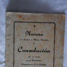 Outros artigos de papel: NOVENA A MARIA SANTISIMA DE CONSOLACION 1946. Lote 223457117