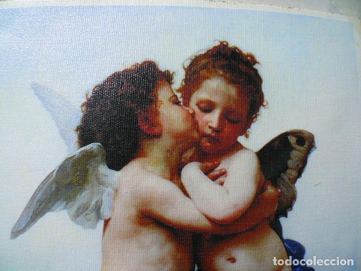 Coleccionismo Papel Varios: 2 piezas. Psique y Cupido CUADROS EN LIENZO – IMPRESO. - Foto 5 - 200391061