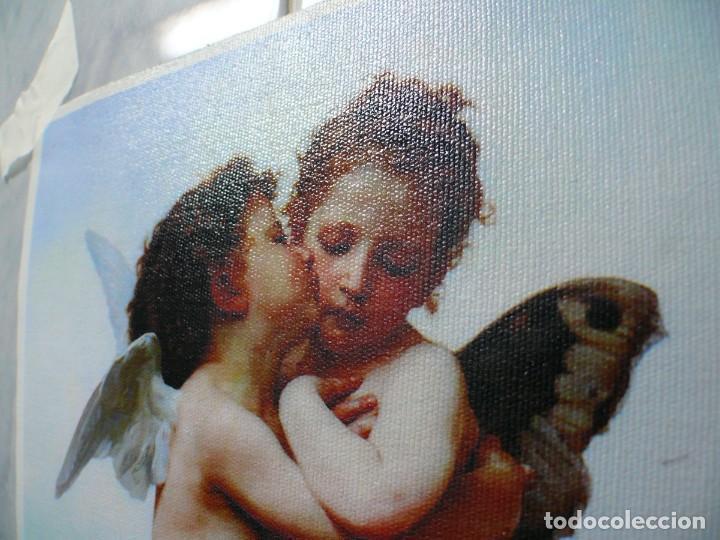 Coleccionismo Papel Varios: 2 piezas. Psique y Cupido CUADROS EN LIENZO – IMPRESO. - Foto 11 - 200391061