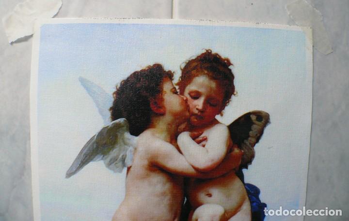 Coleccionismo Papel Varios: 2 piezas. Psique y Cupido CUADROS EN LIENZO – IMPRESO. - Foto 12 - 200391061