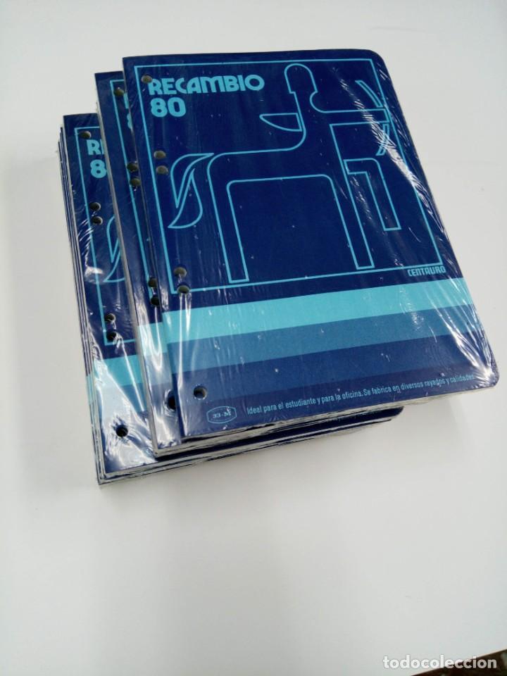 OFERTA! LOTE 10 RECAMBIOS CENTAURO CUADRÍCULA 21,5CM X 15,5CM PARA BLOC ANILLAS 6 TALADROS (Coleccionismo en Papel - Varios)