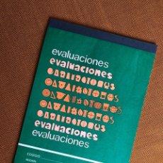 Coleccionismo Papel Varios: CUADERNO EVALUACIONES. PROFESOR. ALUMNO. EGB. AÑOS 70. CENTAURO. FRANQUISMO. ESPAÑA. Lote 224678240