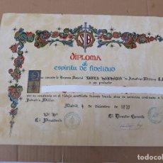 Coleccionismo Papel Varios: DIPLOMA AL ESPIRITU DE FIDELIDAD- EMPRESA NACIONAL SANTA BARBARA DE INDUSTRIAS MILITARES.. Lote 224999542