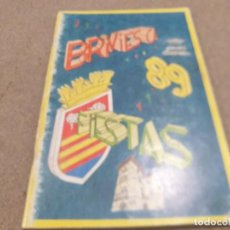 Coleccionismo Papel Varios: PROGRAMA DE FIESTAS DE BRIVIESCA. ...(BURGOS)..1989..... Lote 225043355