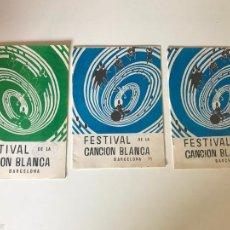 Coleccionismo Papel Varios: LOTE FESTIVAL DE LA CANCIÓN BLANCA. Lote 226309550