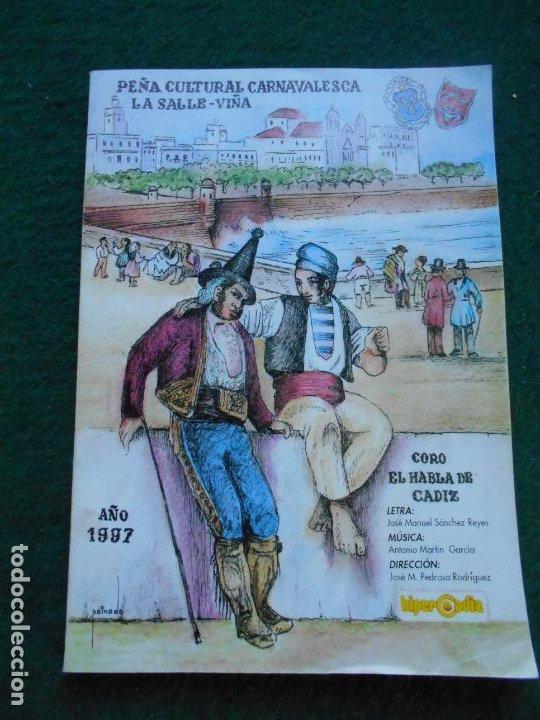CARNAVAL DE CADIZ LIBRETO 1997 EL HABLA DE CADIZ (Coleccionismo en Papel - Varios)