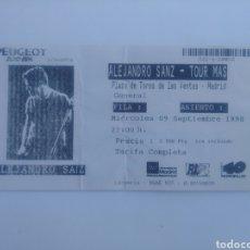 Coleccionismo Papel Varios: ENTRADA DE CONCIERTO DE ALEJANDRO SANZ. PLAZA DE TOROS DE LAS VENTAS. 1998.. Lote 226893270