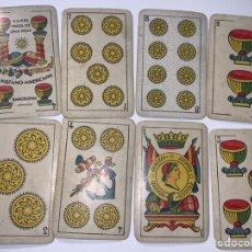 Coleccionismo Papel Varios: BARAJA DE NAIPES LA HISPANO-AMERICANA . 48 NAIPES. AÑO 1932. USADA. Lote 227943205
