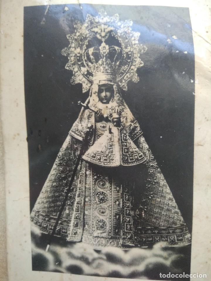 Coleccionismo Papel Varios: Antigua imagen nuestra señora de guadalupe, patrona de extremadura en carton duro, ver fotos - Foto 2 - 227980425