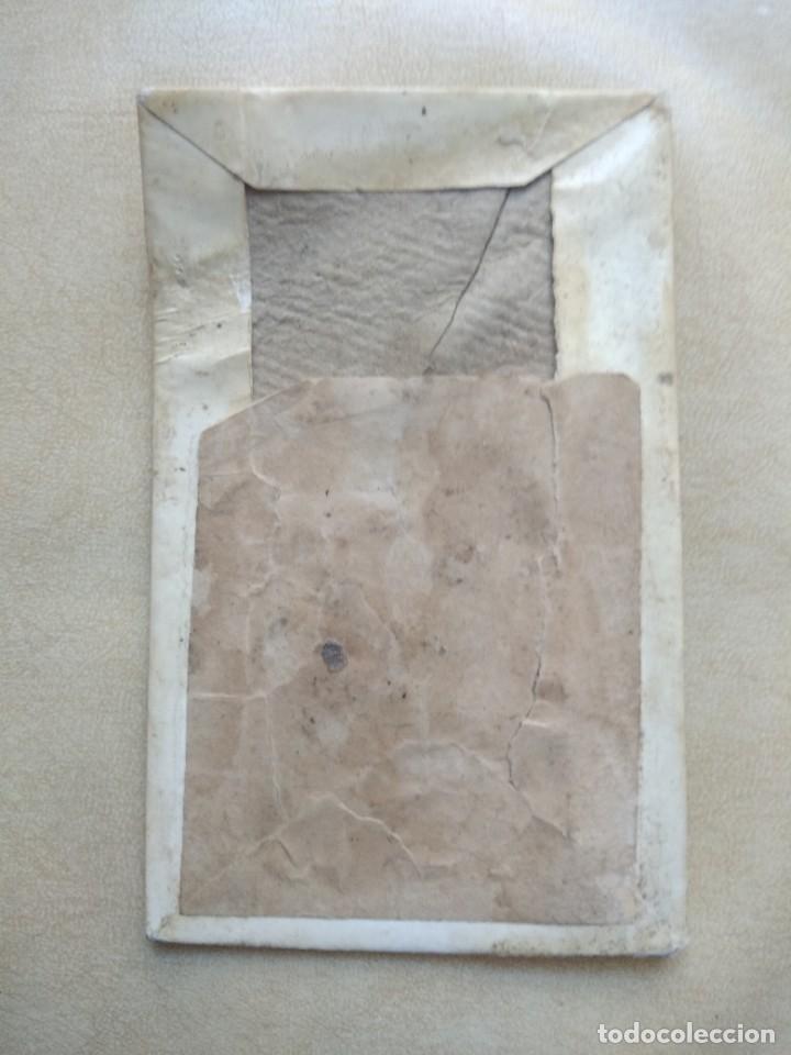 Coleccionismo Papel Varios: Antigua imagen nuestra señora de guadalupe, patrona de extremadura en carton duro, ver fotos - Foto 4 - 227980425