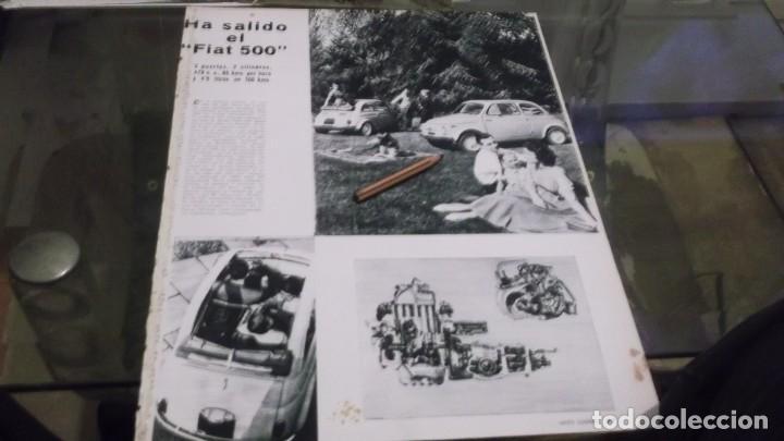 RECORTE PUBLICIDAD AÑO 1957 - EL NUEVO AUTOMOVIL FIAT 500 (Coleccionismo en Papel - Varios)