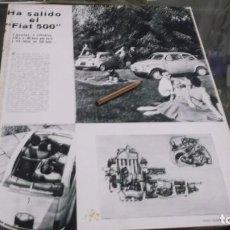 Coleccionismo Papel Varios: RECORTE PUBLICIDAD AÑO 1957 - EL NUEVO AUTOMOVIL FIAT 500. Lote 228189220