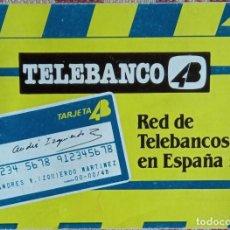Coleccionismo Papel Varios: RED DE TELEBANCOS 4B EN ESPAÑA 1985. Lote 228263805