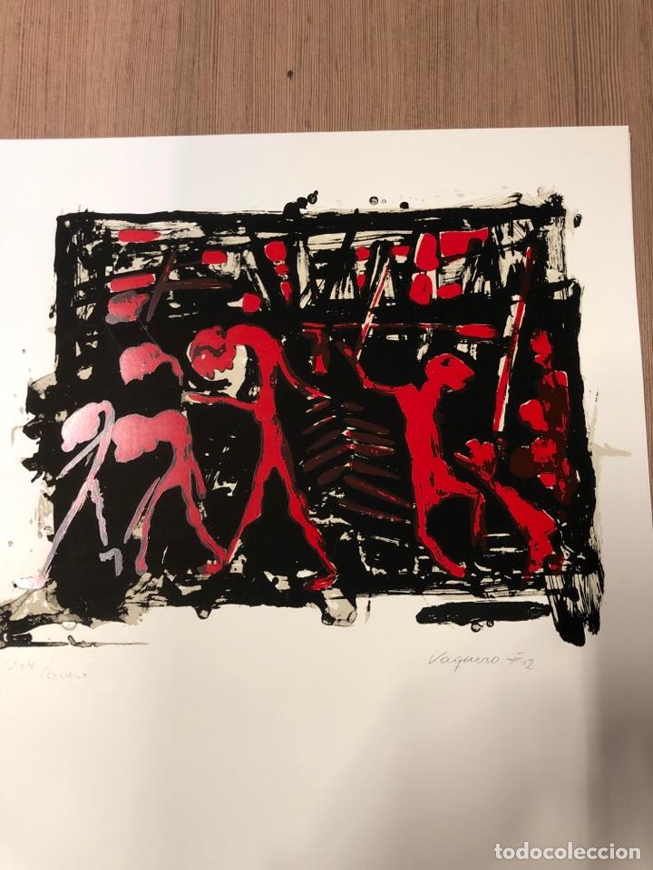 Coleccionismo Papel Varios: Cartel de la exposición de VAQUERO FOZ 1989 zaragoza (41,5x31,5cm) - Foto 2 - 228270130