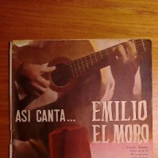 Outros artigos de papel: CANCIONEROS EMILIO EL MORO (DOS DIFERENTES, VER FOTOS). Lote 228273845