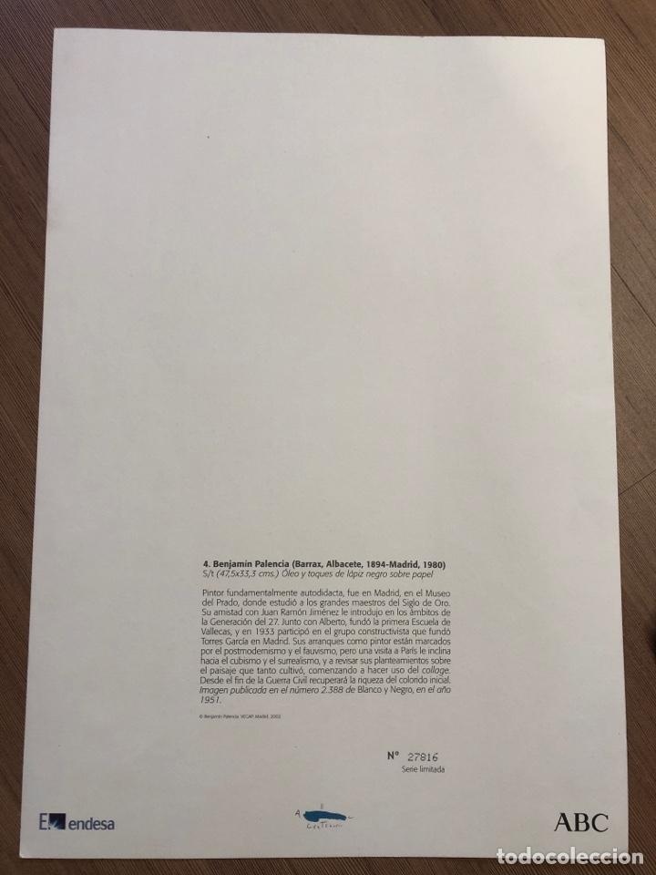 Coleccionismo Papel Varios: Lamina de arte de la colección privada de abc BENJAMIN PALENCIA 47x33cm - Foto 4 - 228274375
