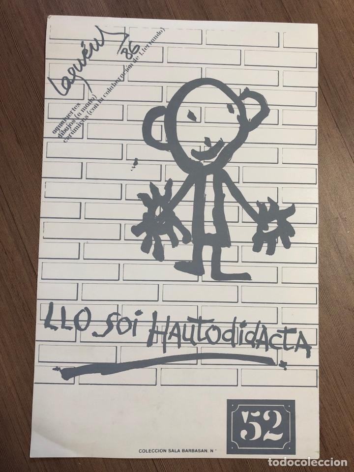 Coleccionismo Papel Varios: Cartel de la exposición de MIGUEL ÁNGEL LAGUENS 1987 zaragoza (49,5x31,5m) - Foto 2 - 228278825