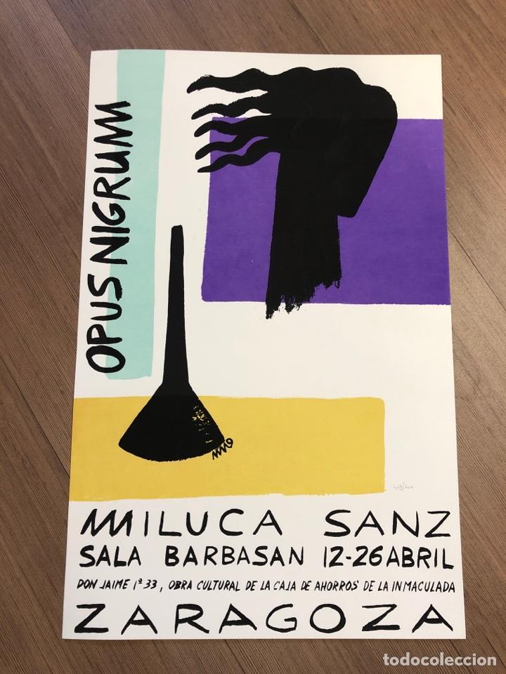 CARTEL DE LA EXPOSICIÓN DE MILUCA SANZ ZARAGOZA 1988 (49,5X31,5CM) (Coleccionismo en Papel - Varios)
