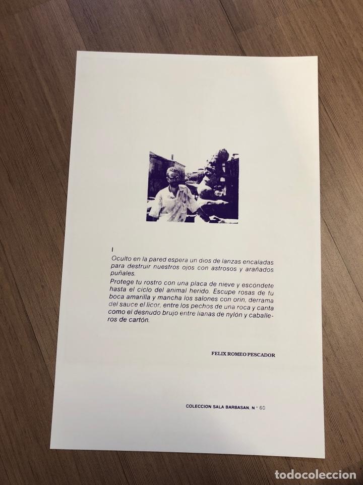 Coleccionismo Papel Varios: Cartel de la exposición de REBULLIDA ZARAGOZA 1987 (49,5x31,5cm) - Foto 2 - 228279860